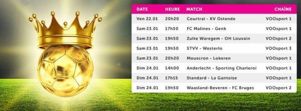 Jupiler pro League  - 23° journée - Calendrier