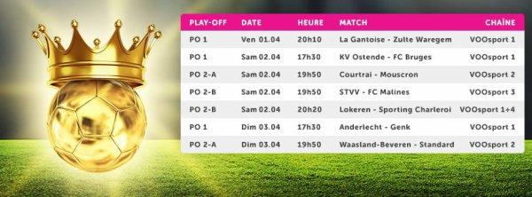 Play Off 1 et 2 - 1° journée - Calendrier