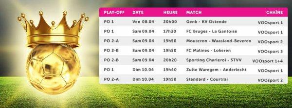 Play Off 1 et 2 - 2° journée - Calendrier
