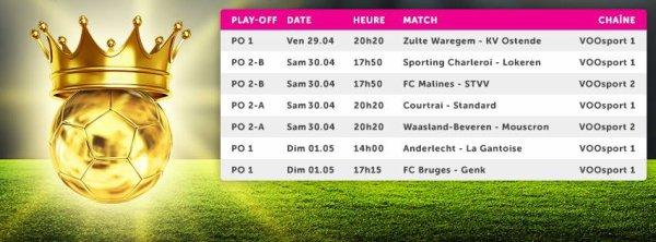 Play Off 1 et 2 - 5° journée - Calendrier