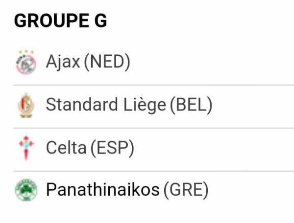 Tirage Europa League - Phase de groupes - Groupe G