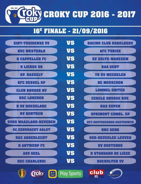 1/16 de finale de la Croky Cup 2016 - 2017
