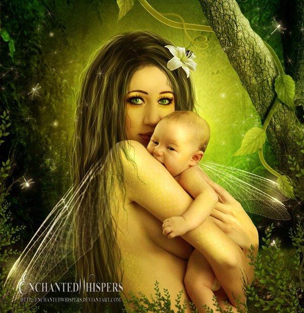 Fée et son bébé