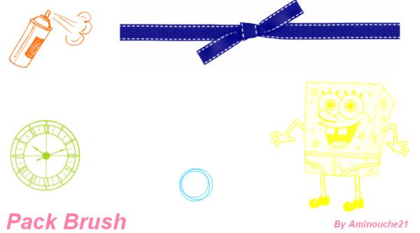 Pack/plaquette de brush n°1