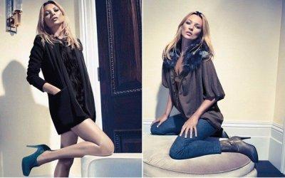 Kate Moss : ses photos pour la collection automne/hiver chez Liu Jo