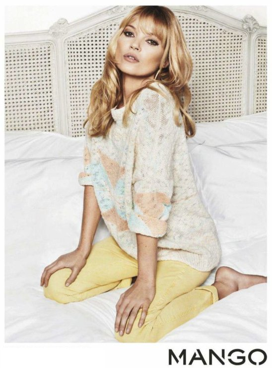 Kate Moss pour la collection printemps-été Mango.