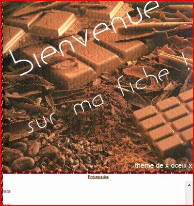 Thème FICHE Chocolat