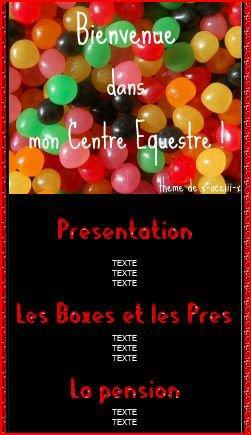Thème CE bonbons dragibus noir et rouge