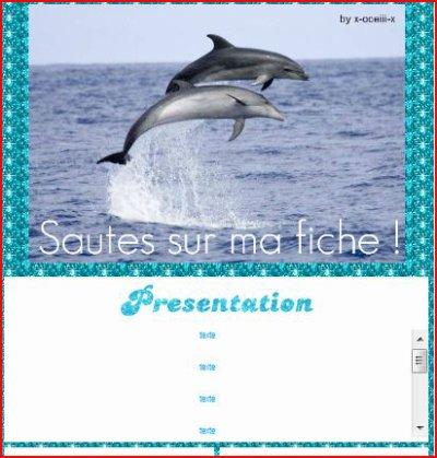 Thème FICHE Dauphins
