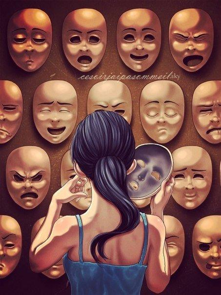 Si j'enlève mon masque je vais m'arracher la peau