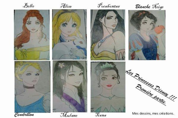Mes dessins, Princesses Disney... Première partie!!!