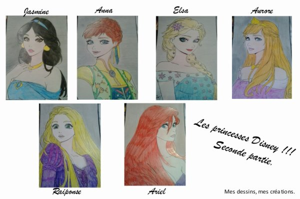 Mes dessins, Princesses Disney... seconde partie!!!