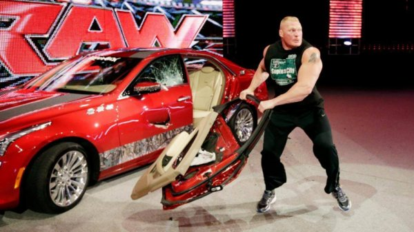 Petit rappel pour Samoa Joe avant WWE Great Balls of Fire dimanche sur AB1: Voilà ce qui arrive quand on énerve Brock Lesnar...