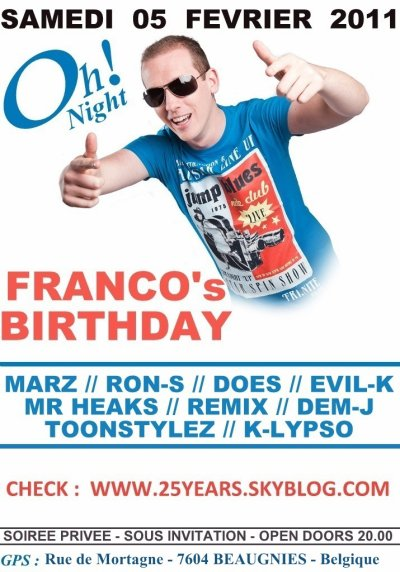 - FRANCO BIRTHDAY -