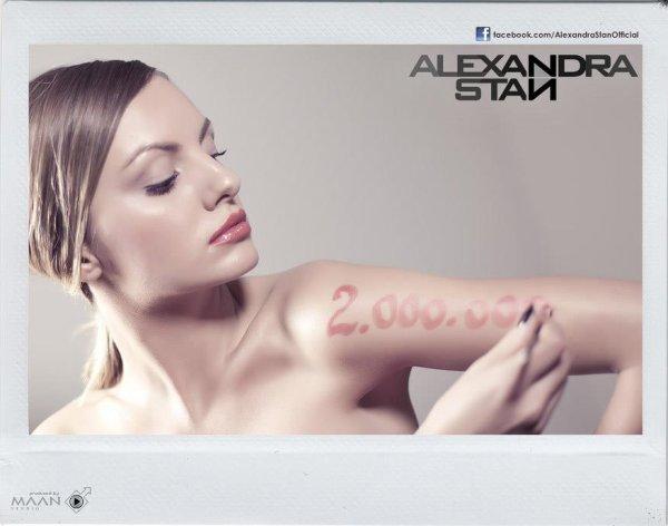 06/12/12 Alexandra Stan remercie ses 2 millions de fans sur Facebook en postant une photo !