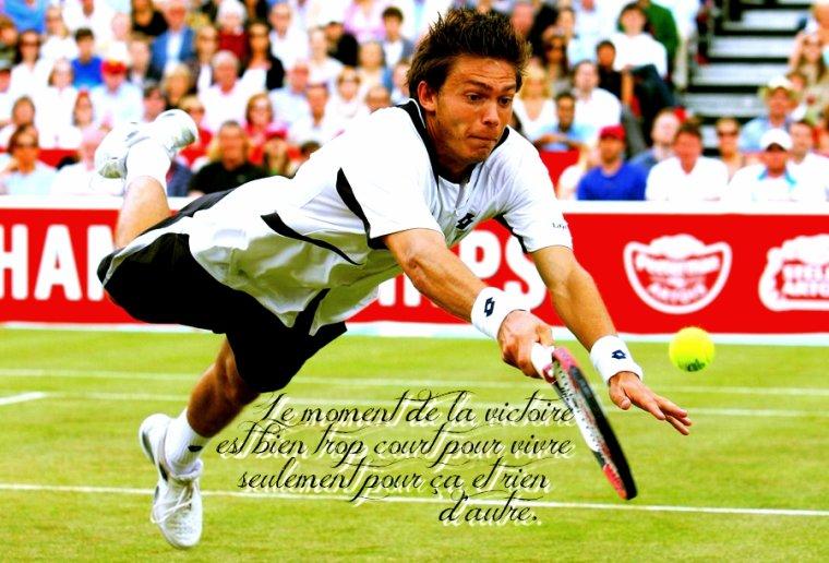 Courage Nicolas Mahut