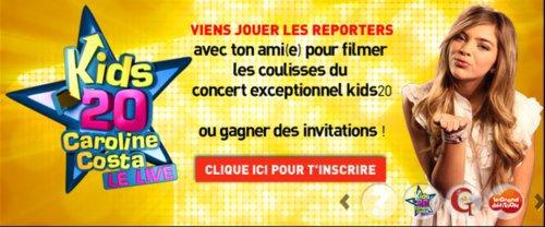 Spot concours kids 20 le live !