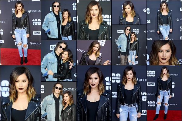 """. 22.10.17 : Ashley et Chris assistaient au """"The Walking Dead"""" TV show season premiere event à Los Angeles. ."""