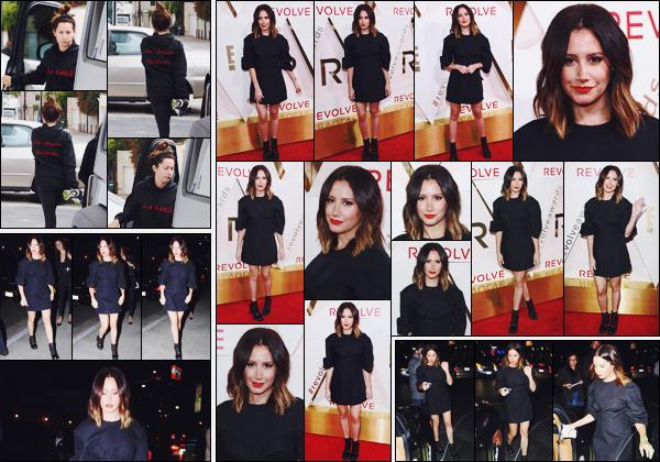 . 02.11.17 : Ashley Tisdale était présente au « #REVOLVEAwards » qui se déroulait au DREAM Hollywood Hotel. Elle a d'abord été vue se rendant à la salle de sport. En soirée, Ash' a ensuite été aperçue arrivant à l'évènement. Je la trouve superbe !  .