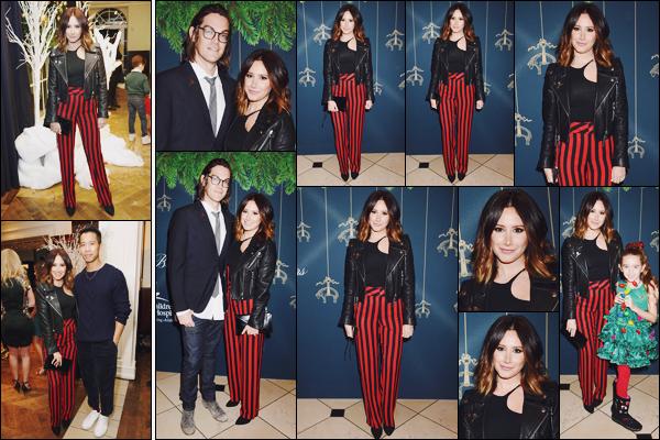 . 02.12.17 : Ashley était à la soirée organisée par la marque de vêtements « Brooks Brothers » à Beverly Hills. Cela concernait la récolte des fonds pour « St Jude Children's Research Hospital »... Il y avait aussi son mari et sa nièce, Mikayla. Top !  .
