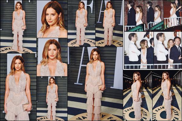 . 04.03.18 : Ashley Michelle Tisdale était présente à la « Vanity Fair Oscar Party » à Beverly Hills en Californie.   .