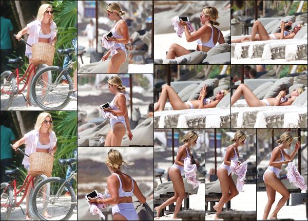 ''• '02/08/18:'' Ashley Tisdale a été aperçue alors qu'elle arrivait au bord de la plage de Tulum au Mexique !! Après une balade en vélo la jeune femme a été se détendre au bord de la plage. Je lui accorde un top pour sa tenue, quel est votre avis ?