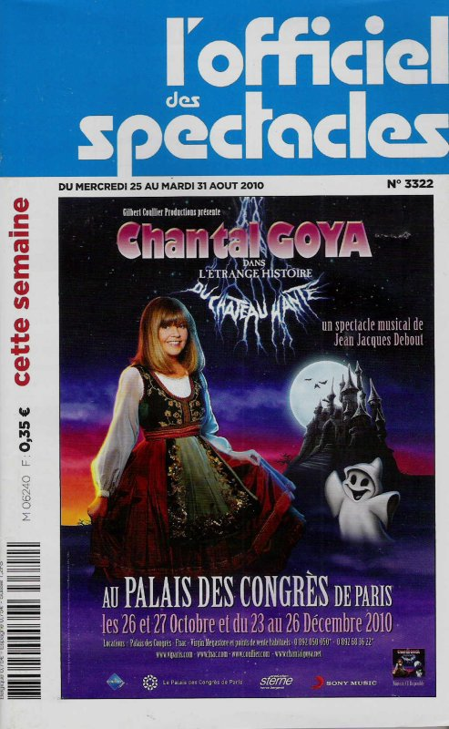CHANTAL EN COUVERTURE DE L'OFFICIEL DES SPECTACLES