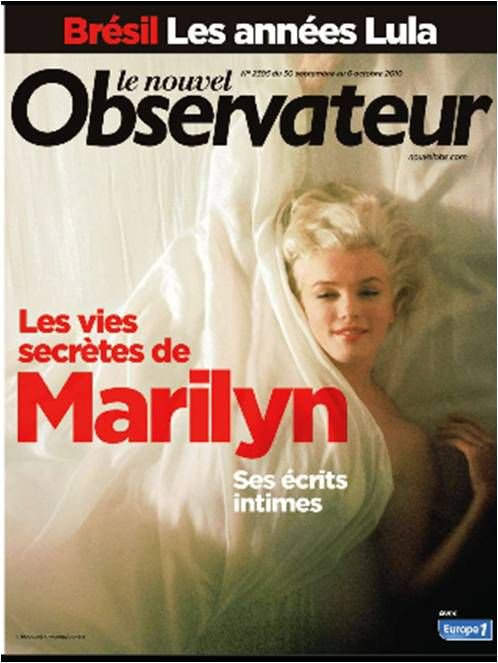 MARILYN EN COVER DU NOUVEL OBS