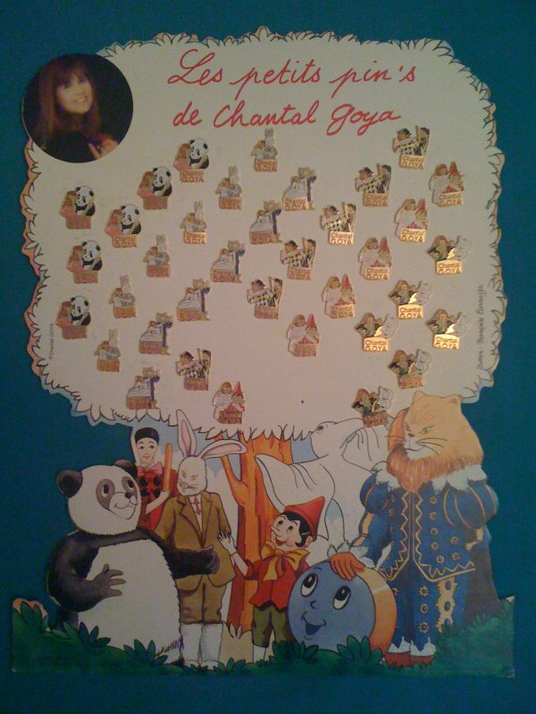 COLLECTION CHANTAL GOYA -PLANCHE DE PINS ET PLV BABAR
