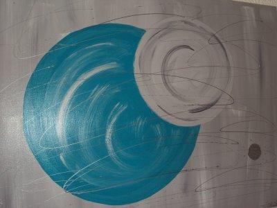 Hemisphère Turquoise-Grise