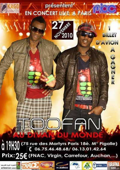 TOOFAN MUSIC ORGANISATION AN FRANCE