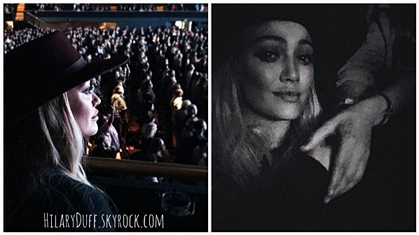 . ♦♦ ► 18 Décembre 2016 : Hilaryétait au concert de Stevie Nicks à L. Angeles avec sa mère et sa soeur. ■ Nous avons peu de photos del'événementpuisqu'on a que des photos personnelles de la part de la miss. J'adore le peu de sa tenue.■ .