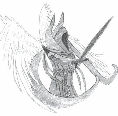 Ange d chu blog de dessin - Dessin ange noir et blanc ...