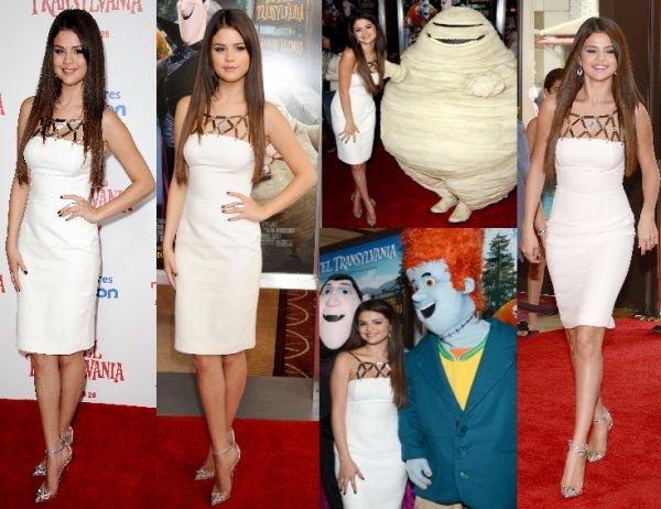 22/09/12: Selena était à l'avant première du film Hotel Transylvania à Hollywood.