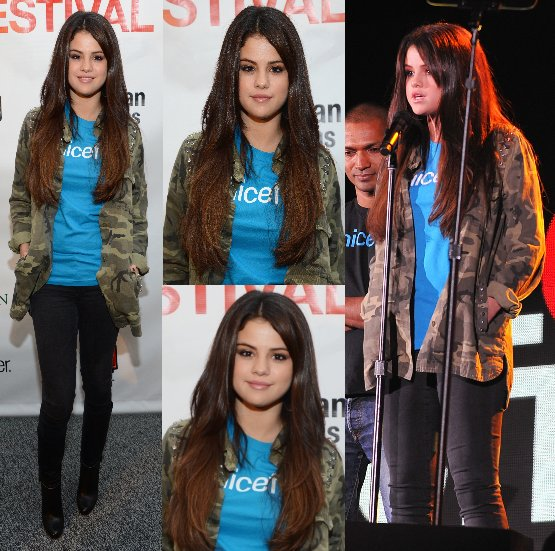 29/09/12:  Selena était présente au Global Citizen Festival à New York.