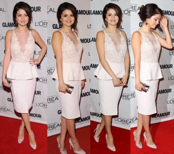 12/11/12: Selena était à la soirée de « Glamour Women of the Year ».