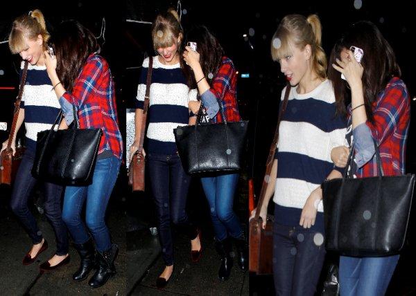 17/11/12: Selena et Taylor ont été dîné au restaurant Osteria La Buca à West Hollywood.