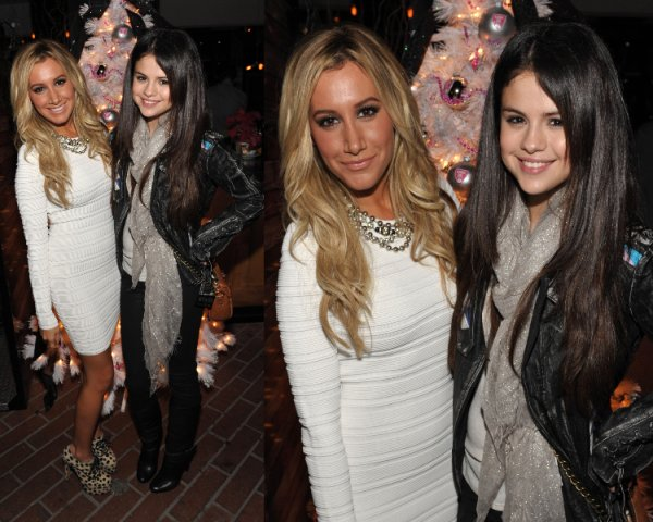 17/12/12: Selena était à la soirée Blondie Production au coté d'Ashley Tisdale.