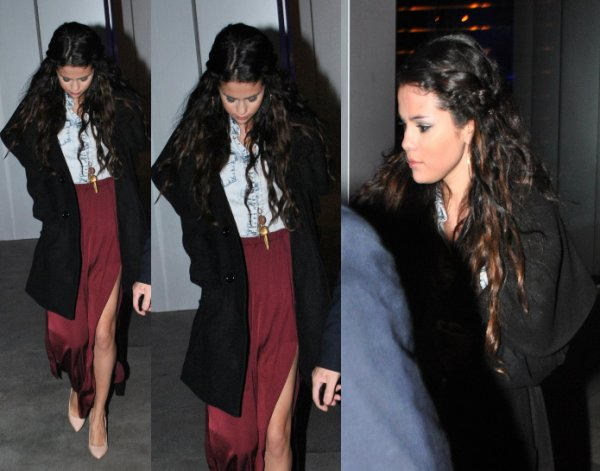 "11/01/13: Selena à été apperçu quitant le restaurant ""Boa Steakhouse"" à West Hollywood."