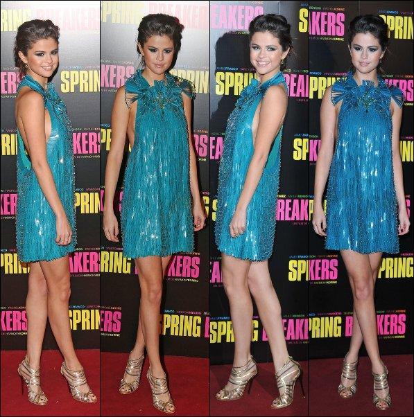 Le 18/02/13: Selena et le cast était à la première du film Spring Breakers à Paris.