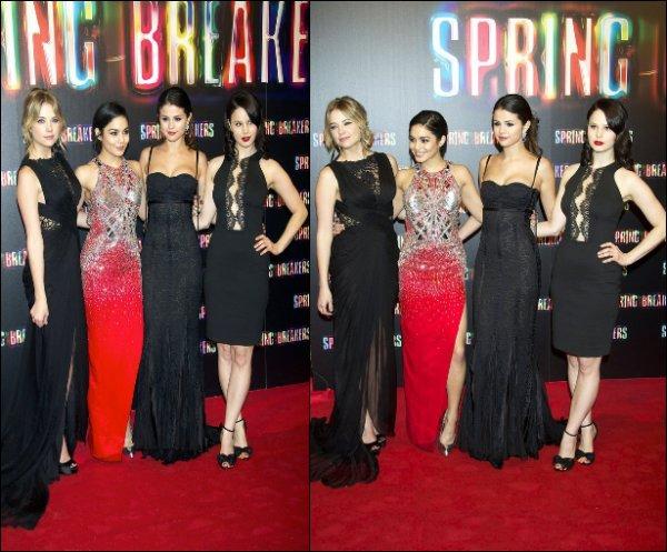 """21/02/13: Nouvelle avant première de """"Spring Breakers"""" à Madrid."""