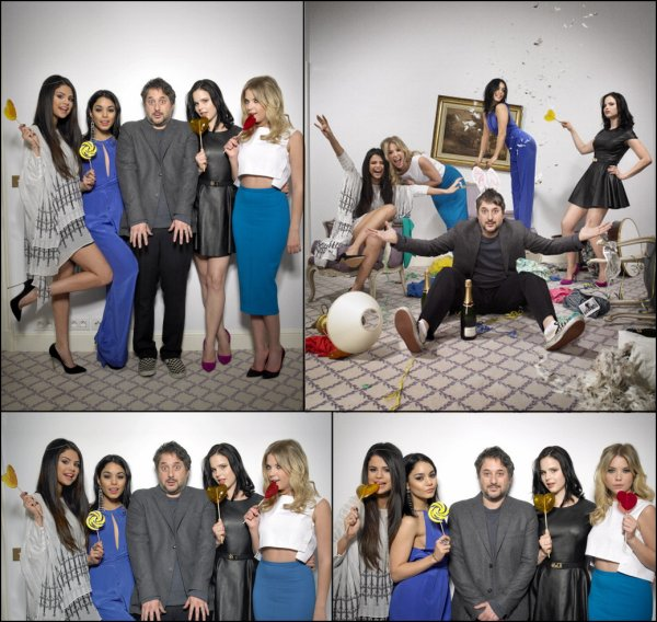 Photoshoot de Selena et le Cast de « Spring Breakers » pour Paris Match.