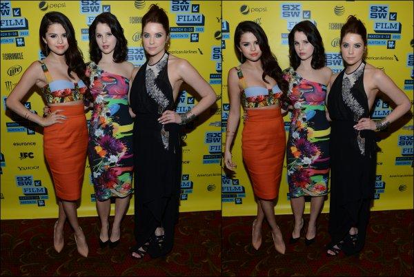 10/03/13: Selena était présente au festival SXSW en compagnie du cast de Spring Breakers sauf Vanessa qui était malade.