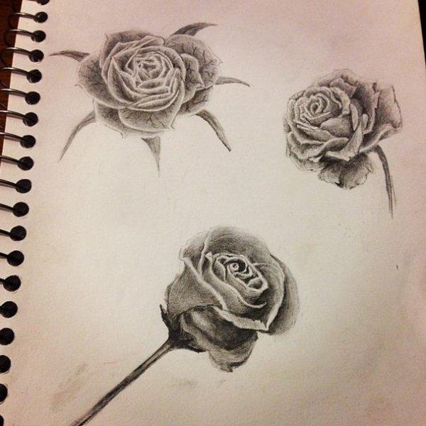 Articles de justalittleextreme tagg s dessin tatouage blog de justalittleextreme - Tatouage rose noir et blanc ...