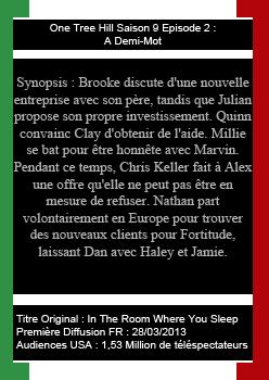 ~ Teams-OneTreeHill : Ta Source Sur Les Frères Scott ♥ Saison 9 : Épisodes 1 à 4  ♥ Création-Décoration