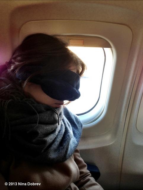 Nina dans l'avion !
