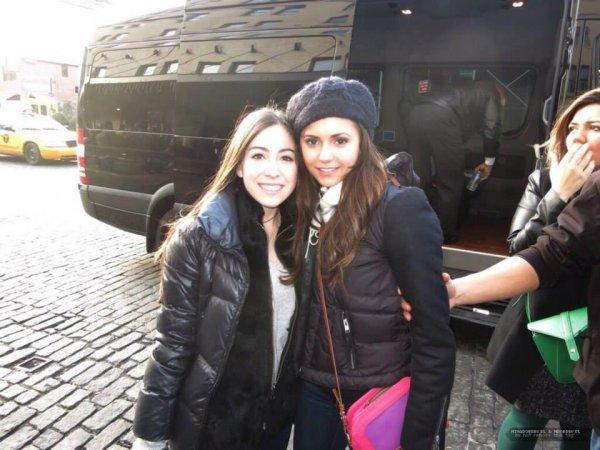 Nina et ses fans sur le CAST TVD