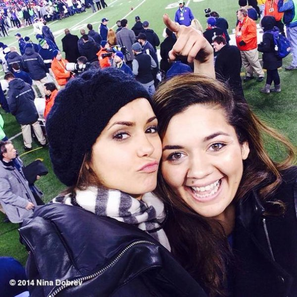 Nina au match du SuperBowl