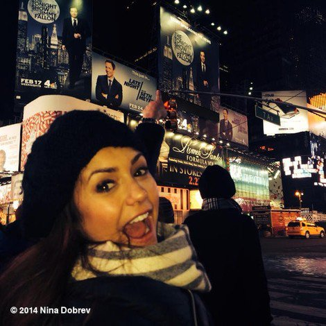 Nina à Nyc Times Square !