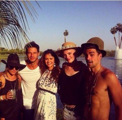 , Nina à la partie Soho Desert House Avec Bacardi !